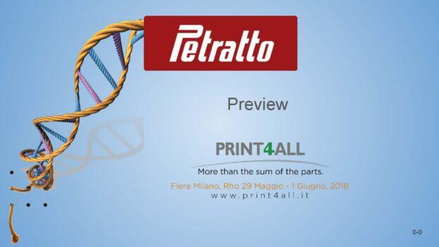 Petratto udstiller på PRINT4ALL, Milano – 29. maj – 1. juni 2018